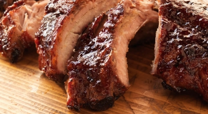 Baby Back Ribs with Pomegranate Cherry Glaze