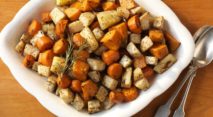 Roasted Root Vegetables with Garlic and Rosemary