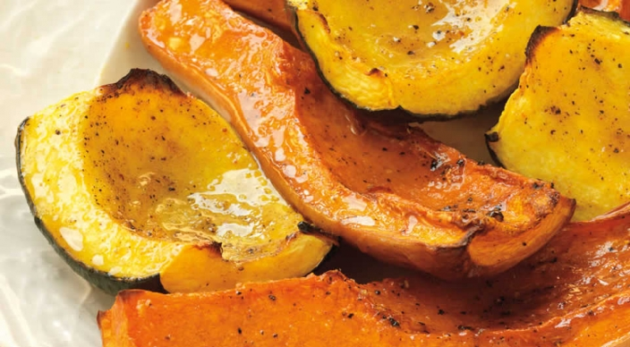 Honey and Curry-Glazed Squash