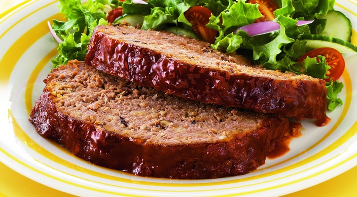 Barbecued Meatloaf with Shiitake Mushrooms