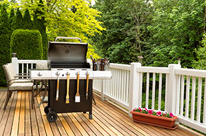 Grill on a deck